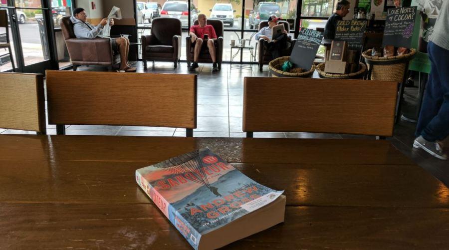 book drop at starbucks