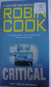 "Book Review: ""Critical"" by Robin Cook"