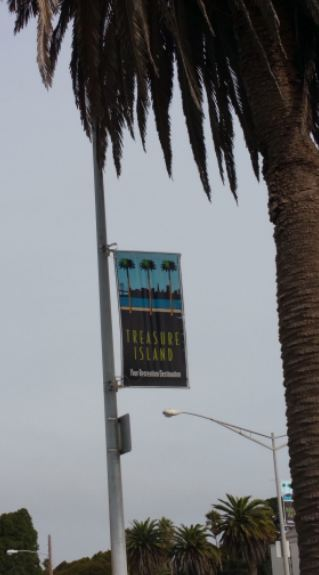 treasure island sign